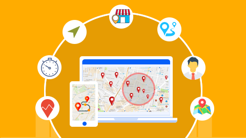Map based features in Sales Force Automation